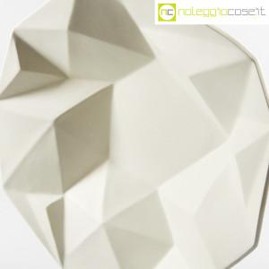 Centrotavola grande sfaccettato in ceramica bianca (5)