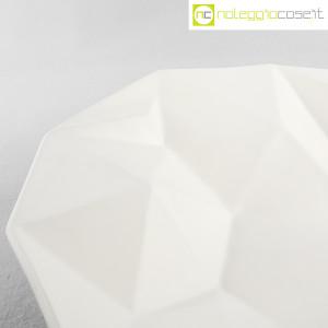 Centrotavola grande sfaccettato in ceramica bianca (7)