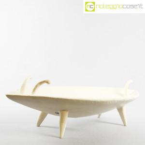 Ceramica Pezzetta, grande centrotavola in ceramica bianco matte, Ambrogio Pozzi (3)