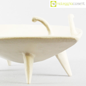 Ceramica Pezzetta, grande centrotavola in ceramica bianco matte, Ambrogio Pozzi (6)