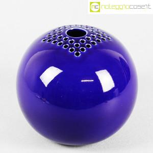 Ceramiche Bucci, grande vaso sfera blu, Franco Bucci (1)
