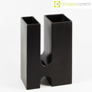 Ceramiche Franco Pozzi, vaso nero Progetto Ensamble, Pierre Cardin (1)