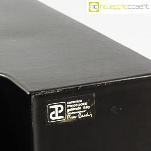 Ceramiche Franco Pozzi, vaso nero Progetto Ensamble, Pierre Cardin (8)