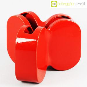 Ceramiche Franco Pozzi, vaso rosso serie Forme Primarie, Ambrogio Pozzi (1)