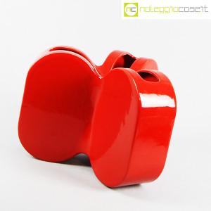 Ceramiche Franco Pozzi, vaso rosso serie Forme Primarie, Ambrogio Pozzi (3)