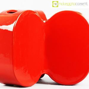 Ceramiche Franco Pozzi, vaso rosso serie Forme Primarie, Ambrogio Pozzi (6)