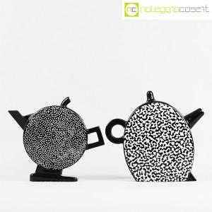 Mas Ceramiche, coppia teiere nere postmodern, Massimo Materassi (2)