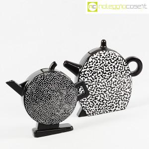 Mas Ceramiche, coppia teiere nere postmodern, Massimo Materassi (3)
