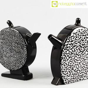 Mas Ceramiche, coppia teiere nere postmodern, Massimo Materassi (6)