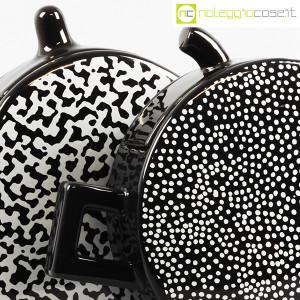 Mas Ceramiche, coppia teiere nere postmodern, Massimo Materassi (7)