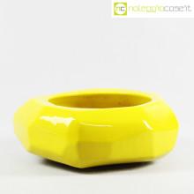 Vaso giallo sfaccettato grande