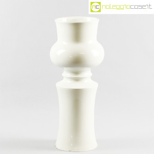 Ceramiche Franco Pozzi, grande vaso sagomato bianco, Ambrogio Pozzi (1)