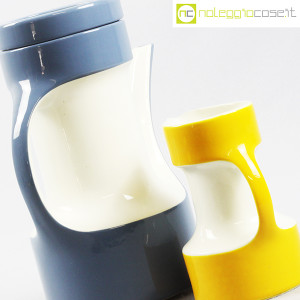 Pagnossin Ceramiche, brocca azzurra e bricco giallo (7)