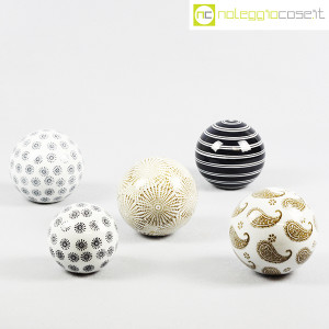Sfere in ceramica decorate (set 02) (9)