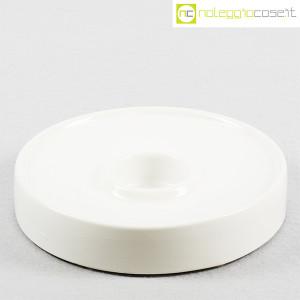 Ceramiche Brambilla, posacenere tondo bianco, Angelo Mangiarotti (1)