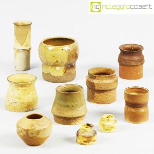 Ceramiche Franco Pozzi, piccoli vasi serie Rustica, set 02 (10pz.), Ambrogio Pozzi (1)