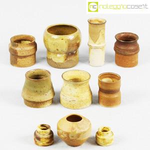 Ceramiche Franco Pozzi, piccoli vasi serie Rustica, set 02 (10pz.), Ambrogio Pozzi (2)