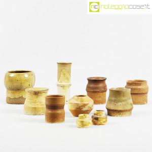 Ceramiche Franco Pozzi, piccoli vasi serie Rustica, set 02 (10pz.), Ambrogio Pozzi (3)