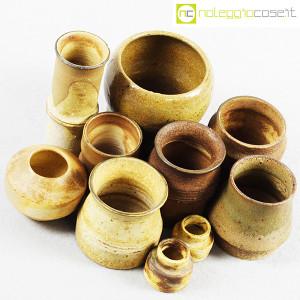 Ceramiche Franco Pozzi, piccoli vasi serie Rustica, set 02 (10pz.), Ambrogio Pozzi (4)