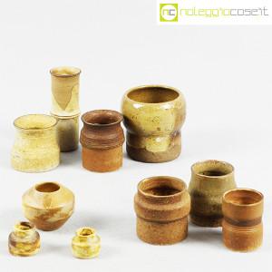 Ceramiche Franco Pozzi, piccoli vasi serie Rustica, set 02 (10pz.), Ambrogio Pozzi (5)