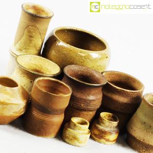 Ceramiche Franco Pozzi, piccoli vasi serie Rustica, set 02 (10pz.), Ambrogio Pozzi (6)