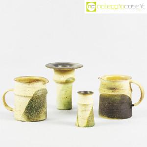 Ceramiche Franco Pozzi, set brocche e vasi decoro verde (4pz.), Ambrogio Pozzi (1)