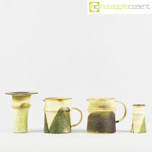 Ceramiche Franco Pozzi, set brocche e vasi decoro verde (4pz.), Ambrogio Pozzi (2)