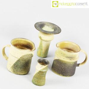 Ceramiche Franco Pozzi, set brocche e vasi decoro verde (4pz.), Ambrogio Pozzi (3)