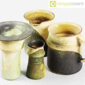 Ceramiche Franco Pozzi, set brocche e vasi decoro verde (4pz.), Ambrogio Pozzi (6)