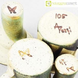 Ceramiche Franco Pozzi, set brocche e vasi decoro verde (4pz.), Ambrogio Pozzi (8)