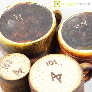 Ceramiche Franco Pozzi, set tazze con manico serie Rustica (4pz.), Ambrogio Pozzi (8)