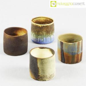 Ceramiche Franco Pozzi, set vasi a bicchiere serie Rustica (4pz.), Ambrogio Pozzi (5)