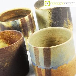 Ceramiche Franco Pozzi, set vasi a bicchiere serie Rustica (4pz.), Ambrogio Pozzi (7)