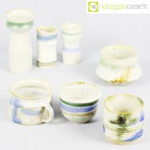 Ceramiche Pozzi vasi bianco serie Rustica