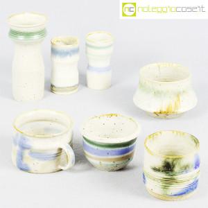 Ceramiche Franco Pozzi, set vasi fondo bianco serie Rustica, Ambrogio Pozzi (1)