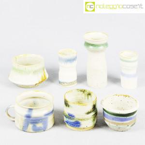 Ceramiche Franco Pozzi, set vasi fondo bianco serie Rustica, Ambrogio Pozzi (2)