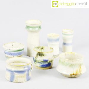 Ceramiche Franco Pozzi, set vasi fondo bianco serie Rustica, Ambrogio Pozzi (3)