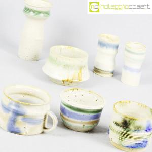 Ceramiche Franco Pozzi, set vasi fondo bianco serie Rustica, Ambrogio Pozzi (5)