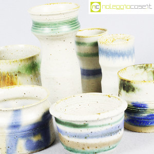 Ceramiche Franco Pozzi, set vasi fondo bianco serie Rustica, Ambrogio Pozzi (6)