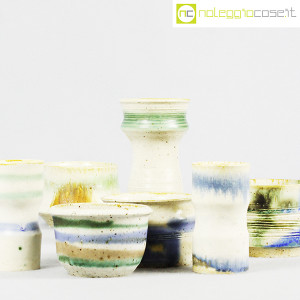 Ceramiche Franco Pozzi, set vasi fondo bianco serie Rustica, Ambrogio Pozzi (7)