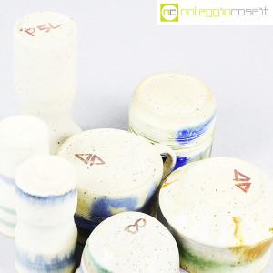 Ceramiche Franco Pozzi, set vasi fondo bianco serie Rustica, Ambrogio Pozzi (8)