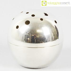 Christofle, vaso sfera Mars Silver, Lino Sabattini (1)