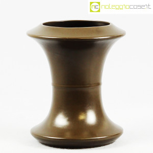 Sartori Ceramiche, vaso a rocchetto marrone (1)