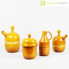 Ceramiche Pozzi set ceramiche ocra