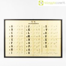 Alfabeto tavola didattica antica