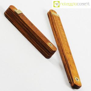 Metri pieghevoli vintage in legno (3)