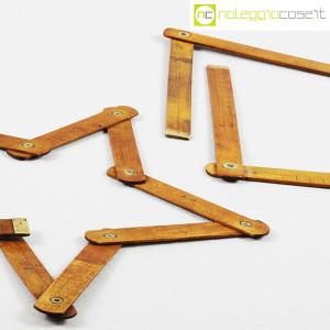 Metri pieghevoli vintage in legno (6)