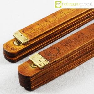 Metri pieghevoli vintage in legno (7)