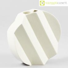 Sele Arte Ceramiche vaso bianco Zig-Zag