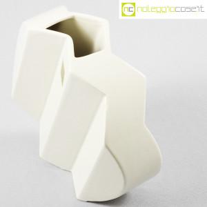 Sele Arte Ceramiche, vaso bianco tondo Zig-Zag (4)